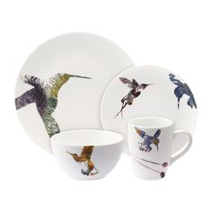 Create a stunning dinnerware collection with this fabulous 16 piece dinner set from Loveramics, part of the Flutter range designed by Peter Ting. The Flutter collection features the surreal introducti Breakfast Plate, Porcelain Dinnerware, Plates And Bowls, Latte Art, Dinner Sets, Kitchen Items, Kitchen Dining, Formal Living Rooms, Teller