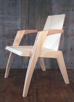 Armchair design by Lorenzo Merani Armchair design by Lorenzo Merani Plywood Chair, Plywood Furniture, Diy Furniture, Furniture Design, Wooden Chair Plans, Wooden Chairs, Study Table And Chair, Chair Design Wooden, Diy Chair