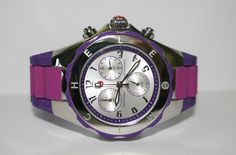 Violet for your victory in Fall --> MICHELE Women watch L. Jelly Bean Silver Purple Pink Tahitian MWW12F000070 #Michele #LuxuryDressStyles $174.77