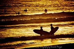 San Diego Surfers at Golden Hour, Sunset Photography Print