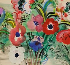 Raoul Dufy, anemones 1938 @Evan Sharp E Miller : I fell in love with Dufy at the Portland Museum of art tonight. While looking up more of his work I found this one. It makes me think of you. <3