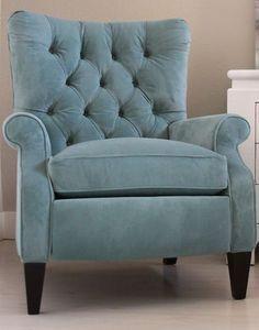 Tufted Chair - High Leg Recliner in   eBay