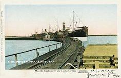 Tampico Antiguo, Muelle Carbonero en Doña Cecilia 1910