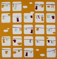 Laundry - Orange (furoshiki)