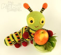 Katie the Caterpillar amigurumi by Janine Holmes at Moji-Moji Design