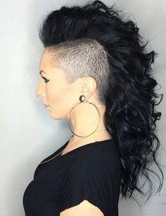 Negrita Rizado Peinado Mohawk Ideas para el año 2017 //  #2017 #año #Ideas #Mohawk #Negrita #para #Peinado #rizado