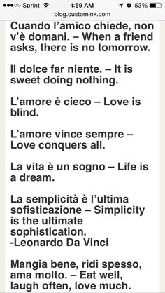 awesome Italian Quotes for possible tattoos ...