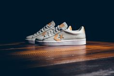 Converse Pro Leather '76 Tumbled Leather Low Top - Ash Grey/Tan - Sneaker Politics