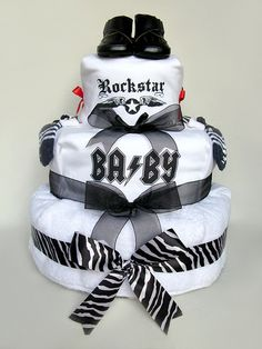 ROCK AND ROLL BABY SHOWER  | ... gmail.com for customised baby t-shirts on your diaper cake