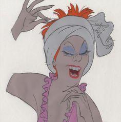 Disney THE RESCUERS Animation Cel MADAME MEDUSA in Milt Kahl Scene, 1977 Animation Cel, Animation Sketches, Character Design Animation, Character Design References, Character Concept, Concept Art, Madame Medusa, Thumbnail Sketches, Walt Disney Animation Studios