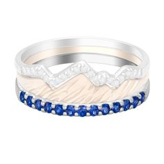 The Snake River rests just below the majestic Tetons, and now, you can add this gorgeous landmark to your Teton Stacking Ring Collection. Each sapphire band ...