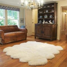High Quality Costco Auskin Lambskin Rug   Natural White   For Master Nook/reading Area