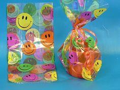 Smiley Face Cellophane Bag £0.12