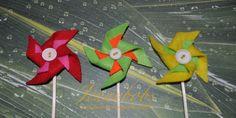 felt pinwheel cake toppers