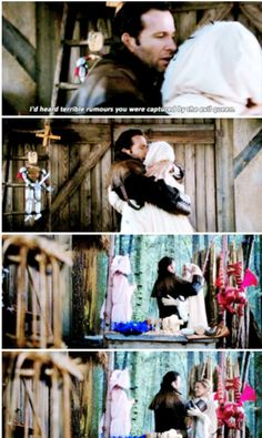"""""""I'd heard terrible rumours you were captured by the Evil Queen"""" - Dreamworld August and Emma #OnceUponATime"""