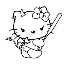 Here are the Interesting Hello Kitty Color Page Colouring Pages. This post about Interesting Hello Kitty Color Page Colouring Pages was posted . Flash Art Tattoos, Kritzelei Tattoo, Doodle Tattoo, Hello Kitty Halloween, Hello Kitty Crafts, Tattoo Sketches, Tattoo Drawings, Hello Kitty Drawing, Hello Kitty Art