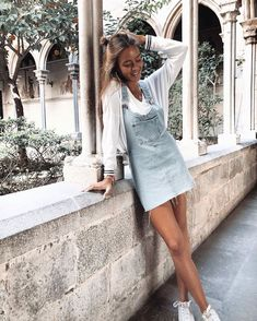 Denim Skirt Outfits, Denim Outfit, Cool Outfits, Summer Outfits, Fashion Outfits, Summer Clothes, Womens Fashion, Foto Casual, Girl Photography Poses