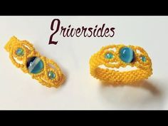 Rings Selber Machen How to make macrame ring - The 2 riverside - Step by step macrame tutorial - Macrame Colar, Macrame Rings, Macrame Knots, Macrame Jewelry, Beaded Rings, Macrame Bracelets, Macrame Necklace, Loom Bracelets, Friendship Bracelets