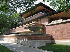 Robie House by Frank Lloyd Wright 1909