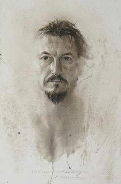 ATANAS MATSOUREFF  -  Bulgaria  Self-portrait  2012  (Watercolor) www.matsoureff.com