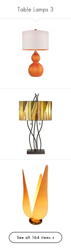 """""""Table Lamps 3"""" by mysfytdesigns ❤ liked on Polyvore featuring home, lighting, table lamps, ceramic lights, orange ceramic lamp, orange ceramic table lamp, ceramic lamps, orange lighting, brown and pacific coast table lamps"""