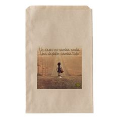 Travel gift greetting spanish message bag