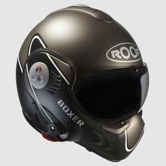 ROOF Boxer V8 Devil Helmet - Matt Black / Anthracite | Flip Front Helmets | The Cafe Racer