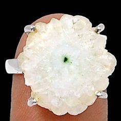 Natural Solar Quartz Eye 925 Sterling Silver Ring Jewelry s.7 SQER15 - JJDesignerJewelry