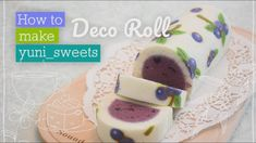 How to make blueberry design Rollcake! | yunisweets Deco Roll - YouTube
