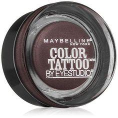 Maybelline New York Eye Studio Color Tattoo Leather 24 HR Cream Gel Eyeshadow Vintage Plum 0.14 Ounce