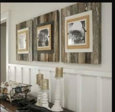 Wainscoting and recycled boards.