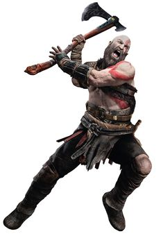 View an image titled 'Kratos Swinging Axe Art' in our God of War art gallery featuring official character designs, concept art, and promo pictures. God Of War Series, Kratos God Of War, Fighting Poses, Pose Reference Photo, Foto Top, Battle Axe, Dynamic Poses, Viking Warrior, Fantasy Armor