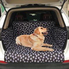 Sofo pet dog travel waterproof car mat suv trunk pet car seat cover is worth buying - newchic Pet Car Seat Covers, Dog Car Seats, Car Seat Protector, Gif Disney, Pet Gate, Doja Cat, Dog Safety, Car Mats, Dog Travel