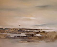 Mixed Media - Distant Shores by Katherine Wood