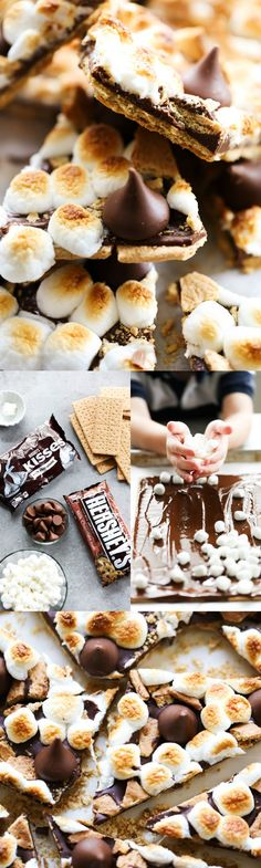This HERSHEY'S KISSES S'more Bark could not be easier to make! This recipe is so delicious and perfect for a quick snack. It tastes just like the beloved s'more; only it is made in the comfort of your own kitchen. #sponsored HERSHEY'S Chocolate