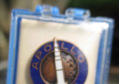 Vintage Apollo NASA Pin by Crest Craft ca. 1969 W/ Orignal Box