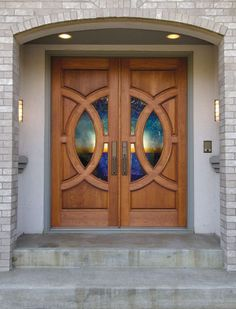 Double Entry Doors Fiberglass exterior double entry door vintage design « home decoration