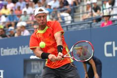 Tennis - 2012 US Open - Australia's Lleyton Hewitt in action against David Ferrer (ESP)[4] in the third round. Ferrer went on to win. - Billie Weiss/USTA