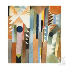 The Forest that Grew from the Seed by Paul Klee. Print from Art.com, $19.99