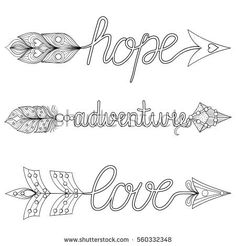 Bohemian Arrows hand painted signs boho, adventure, hope with feathers. Decorative American native symbol for adult coloring pages, ethnic patterned t-shirt print, tribal style. Quote Coloring Pages, Adult Coloring Book Pages, Printable Adult Coloring Pages, Free Coloring Pages, Coloring Books, Coloring Sheets, Peacock Coloring Pages, Rose Drawing Tattoo, Dream Catcher Art