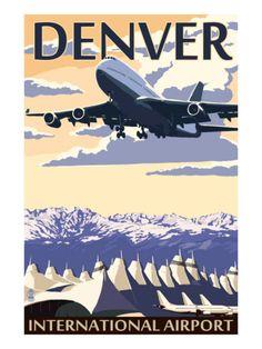 Denver, Colorado - Airport View Print at Art.com