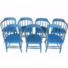 1stdibs | Set Of Seven 19th Century Low Back Windsor Chairs