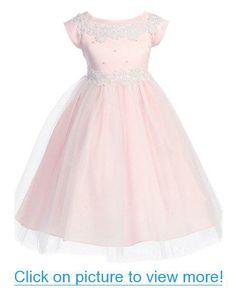 Baby Blue Peek-A-Boo Illusion Ribbon Communion Flower Girl Pageant Dress