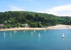 Salcombe, Devon - view of Mill Bay, across the ria from Salcombe.