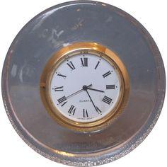 Japan Quartz Crystal Clear Glass Round Clock Tiny