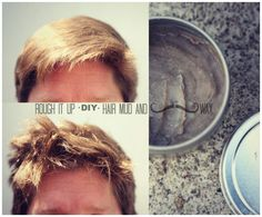 Rough it Up hair mud for fine hair and max texture. – Schona Van Rough it Up hair mud for fine hair and max texture. Pinterest Design, Diy Hair Wax, Diy Hair Paste, Diy Hair Pomade, Comb Over Haircut, Hair Clay, Mustache Wax, Mustache Grooming, Beard Grooming