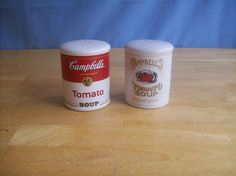2000 Campbell's Tomato Soup Salt And Pepper Shakers