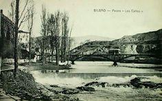 Paseo de los caños, Atxuri. Bilbao, Basque Country, Barbados, Spain, France, City, Painting, Image, Canoe