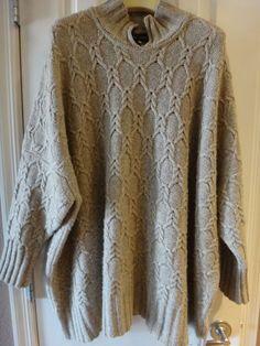 $2.995  Eskandar 2015 Hand loomed Cable Knit Cashmere Tunic Sweater O/S #Eskandar #Sexy