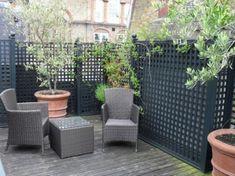 decorative trellis for privacy on a roof terrace - Modern Diy Pergola, Pergola Plans, Pergola Ideas, Pergola Kits, Pergola Shade, Pergola Curtains, Cheap Pergola, Roof Terrace Design, Terrace Floor
